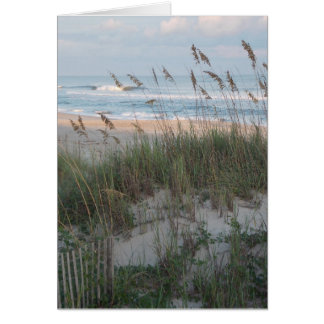 Beach Sunset Card