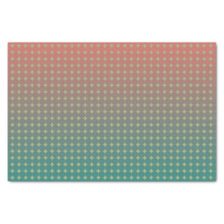 Beach Sunset Coral and Teal Ombre Pattern Tissue Paper