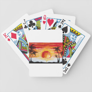 Beach Sunset Custom Personalize DIY Project Home Poker Deck
