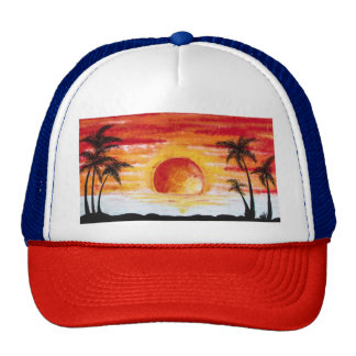 Beach Sunset Custom Personalize DIY Project Home Trucker Hat