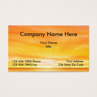 Beach Sunset Design Business Card