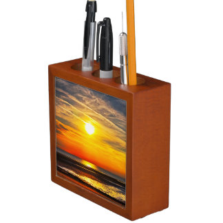 Beach Sunset Desk Organizers