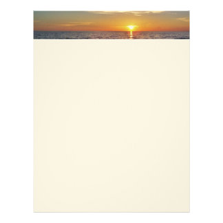 Beach Sunset Letterhead