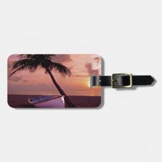 Beach Sunset Luggage Tag