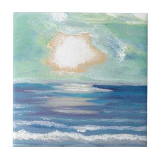 Beach Sunset Ocean Sea Surf Sun Gifts Tile
