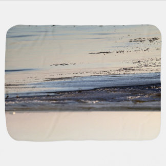 Beach Sunset Ormond Beach Baby Blanket