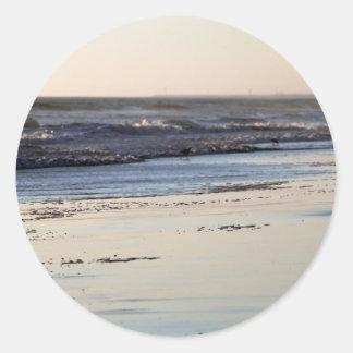 Beach Sunset Ormond Beach Classic Round Sticker