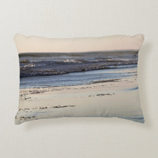 Beach Sunset Ormond Beach Decorative Pillow