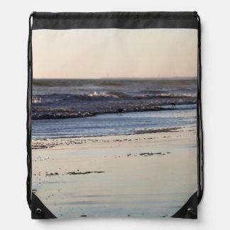 Beach Sunset Ormond Beach Drawstring Bag