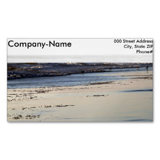 Beach Sunset Ormond Beach Magnetic Business Card