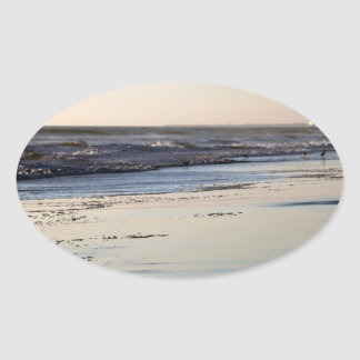 Beach Sunset Ormond Beach Oval Sticker