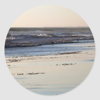 Beach Sunset Ormond Beach Round Sticker