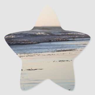 Beach Sunset Ormond Beach Star Sticker