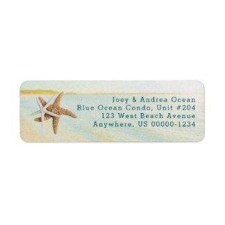 Beach Sunset Starfish Coastal Address Labels