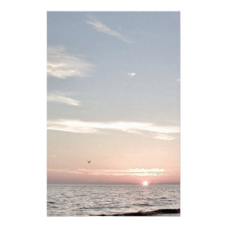 Beach Sunset Stationery Paper