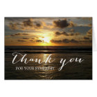 Beach Sunset Sympathy Memorial Thank You Card
