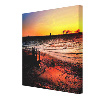 Beach Sunset Wall Decor Canvas Print
