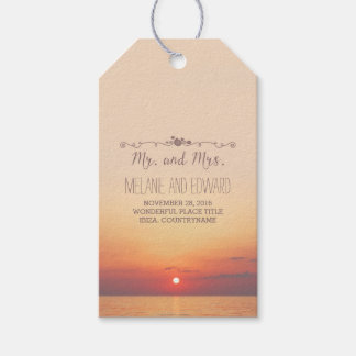 Beach Sunset Wedding Pack Of Gift Tags