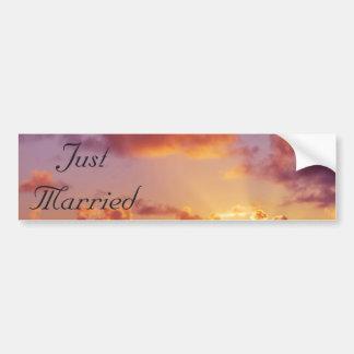 Beach Sunset Wedding Special Car Bumper Sticker