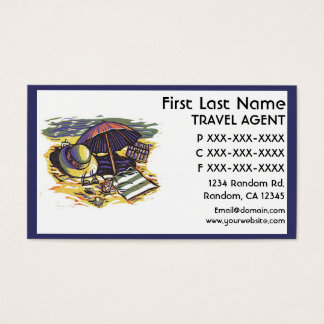 Beach supplies theme Travel agent business cards
