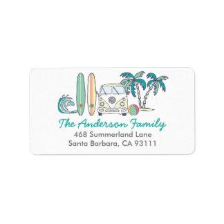 Beach / Surf Address Label
