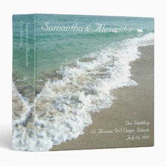 """Beach Surf Destination /Cruise Wedding 1.5"""" Binder"""