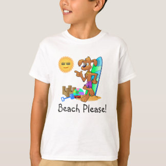 Beach surf dog on the beach T-Shirt
