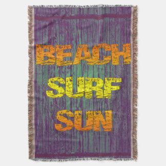 Beach Surf Sun Throw