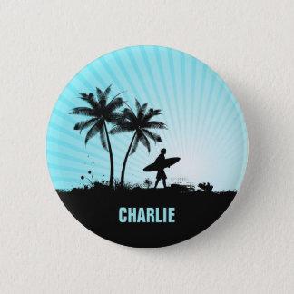Beach Surfer custom name button