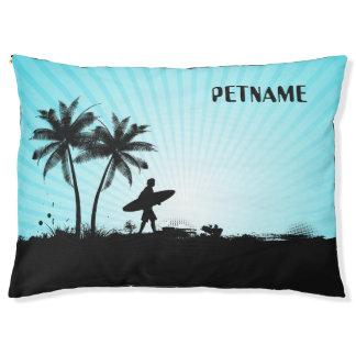 Beach Surfer custom name dog beds