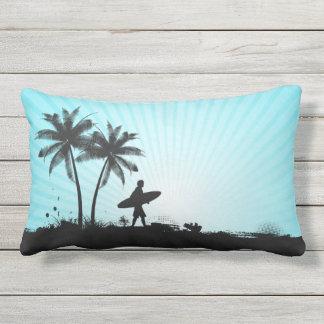 Beach Surfer throw pillows