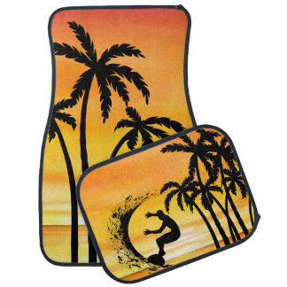 Beach Surfing Hawaiin Scenic Design Car Mat