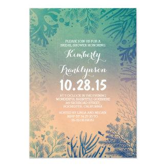 Beach Teal Ocean Underwater Bridal Shower Card