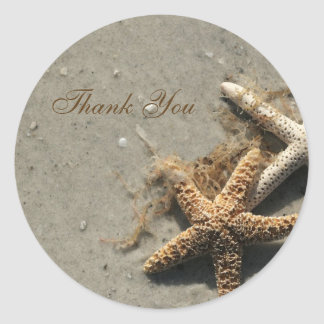 Beach Thank You Stickers