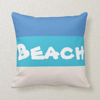 Beach! The Caribbean Sea Cuchion Throw Pillow