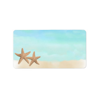 Beach Theme Address Labels