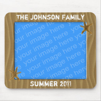 Beach Theme Photo Frame Mousepad