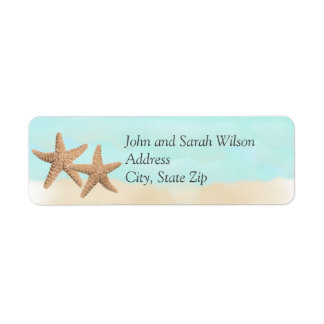 Beach Theme Return Address Labels