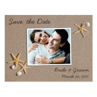 Beach Theme Save the Date Photo Postcards