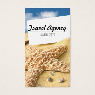 Beach Theme Travel Agency Business Card