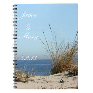 Beach Theme Wedding Plans notebook