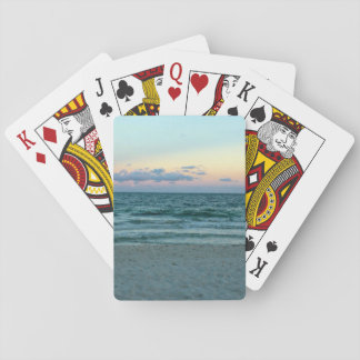 Beach Themed, A Beach With White Sands, Blue Water Playing Cards