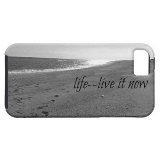 Beach themed case with Life Quote