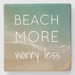 Beach Themed Coasters with Ocean Photo