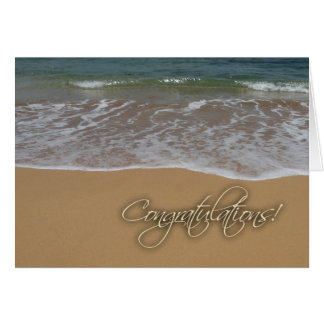 Beach themed congratulations card