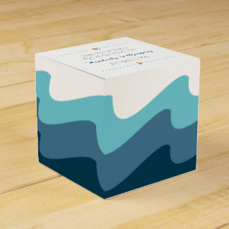 Beach themed Favor Boxes - Blue Wave