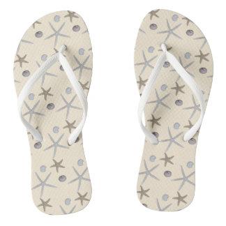 Beach themed flip flops