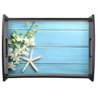 Beach Themed Gifts Large Serving Trays Starfish