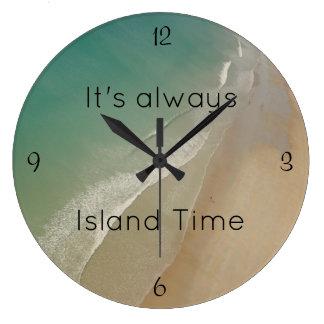 Beach Themed, Island Time Clock