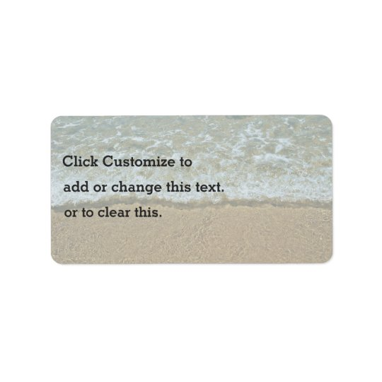 Beach Themed Label